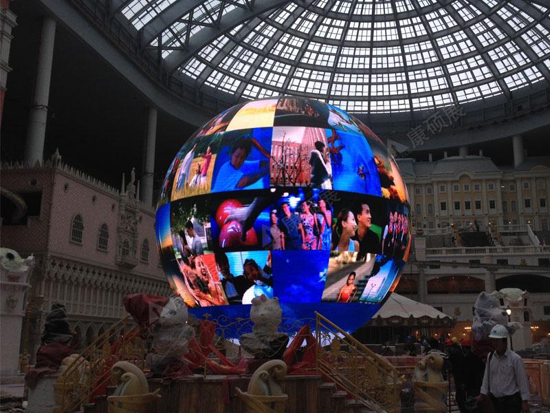 浙江宁波罗蒙集团7米直径LED球形屏