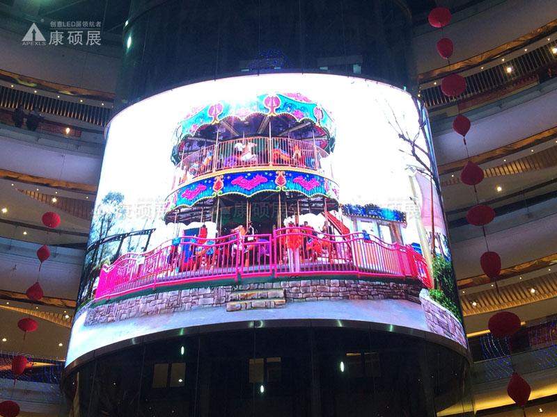 中山古镇室内LED弧形屏